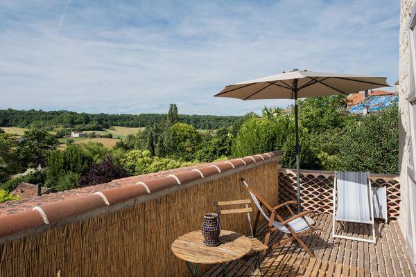 Chambre Rocamadour terrasse extérieure