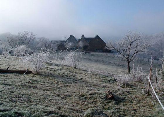 Chambre d'hôtes Espace champêtre-vue en hiver