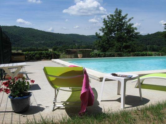 Chambre d'hôtes-Le Pradel-piscine