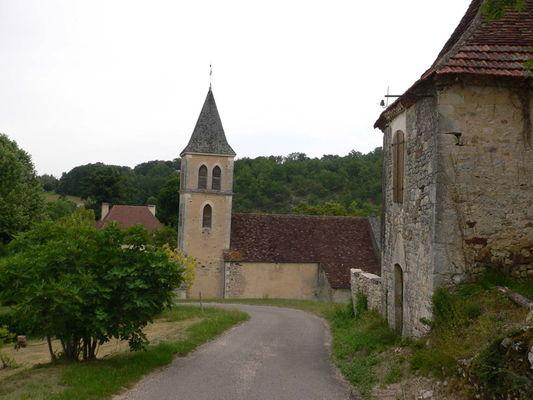 Payrac : Vue sur l'Eglise Paroissiale Notre-Dame