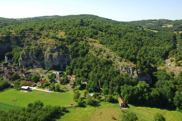 Gluges : Vue sur le Village