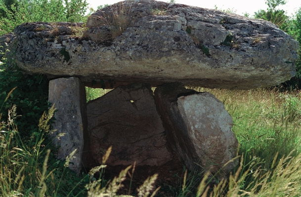 Lentillac du Causse : Dolmen dit La Pierre- Levée