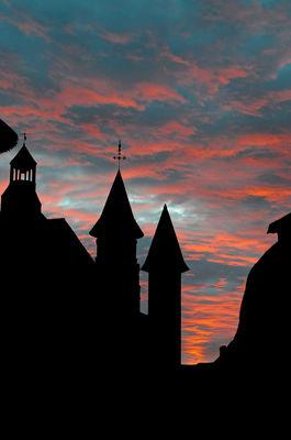 Collonges-la-Rouge au crépuscule- Relais Saint Jacques - Collonges-la-Rouge