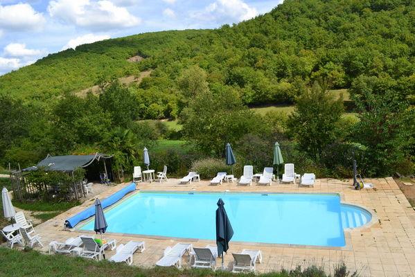La piscine du Manoir à Souillac