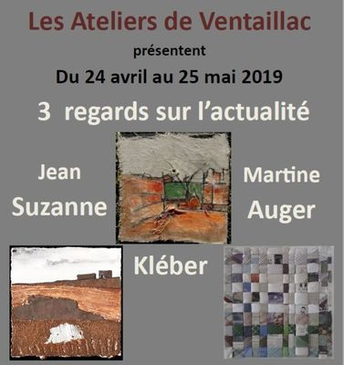 Affiche exposition Ateliers Ventaillac