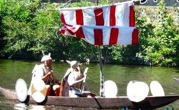 Course en barques Creysse