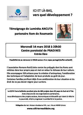 Flyer témoignage Luminita 2018_Cahors