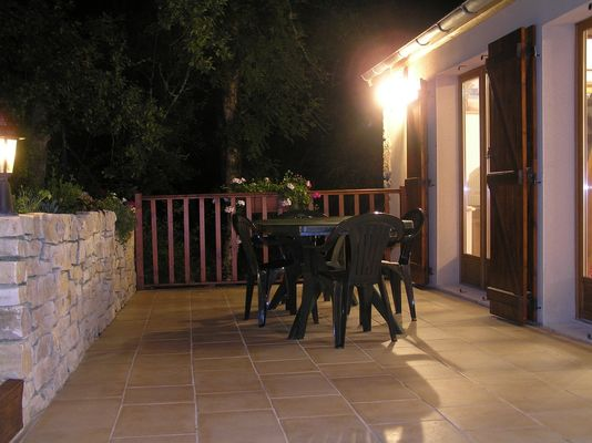 Holman - Patio at night