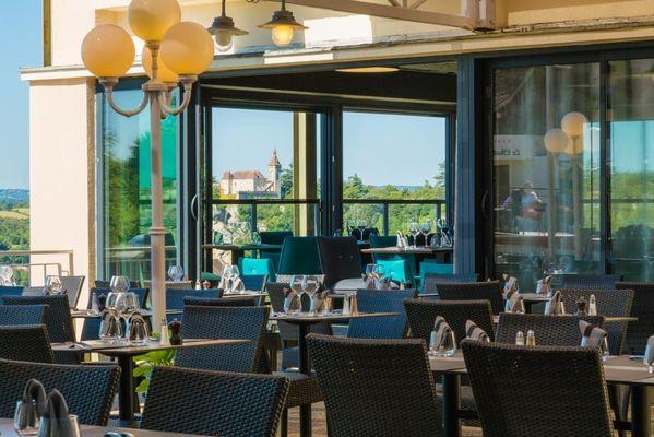 Hôtel Le Belvédère-Rocamadour-véranda terrasse
