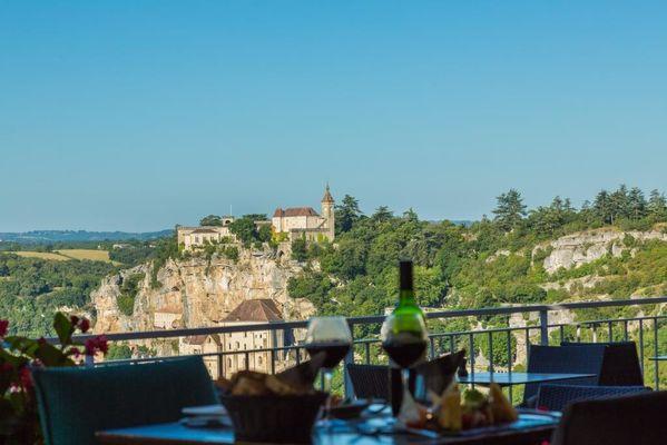 Hôtel Le Belvédère-Rocamadour-vue de la terrasse