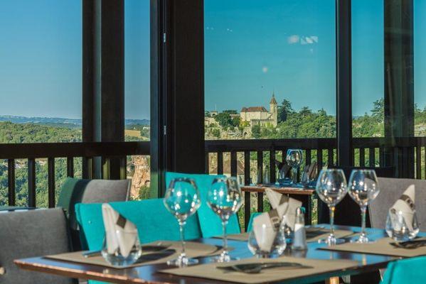Hôtel Le Belvédère-Rocamadour-vue véranda