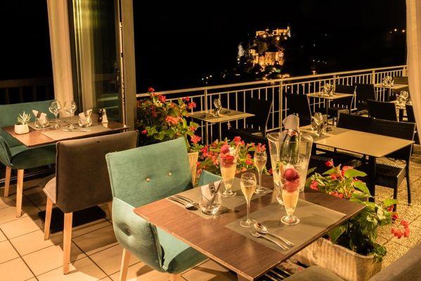 Hôtel Le Belvédère-Rocamadour-nuit