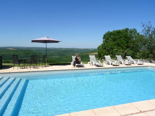 Hôtel Les Vieilles Tours Rocamadour, piscine