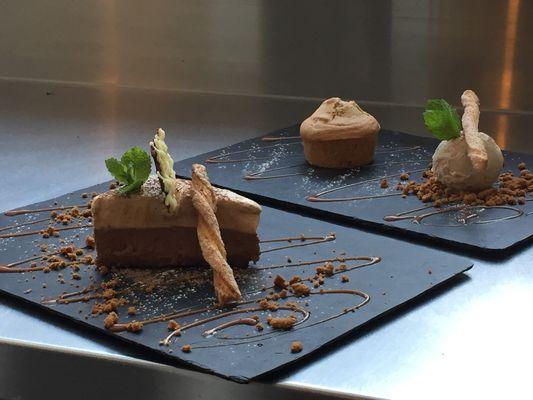 dessert de la carte du restaurant