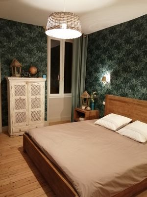 La maison ô kiwis-St Denis-Martel-chambre