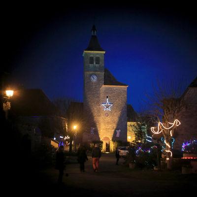 Illuminatiions de Noël à Lunegarde 2015 ©© Laurent Delfraissy 151225-175004