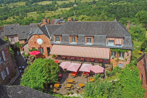 La terrasse - 4- Relais Saint Jacques - Collonges-la-Rouge