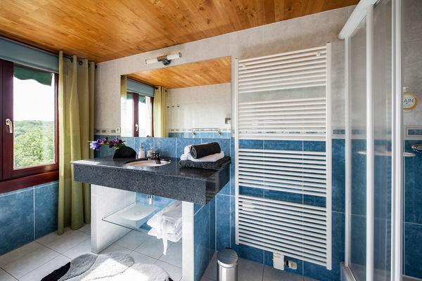 La Villa Touloumo - Mayrac - Salle de bain, chambre Souillac