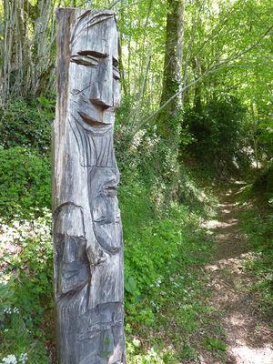 Latouille-Lentillac - Statue sculptée dans le bois, oeuvre de Louis Verdal_04 © Lot Tourisme - C. Sanchez