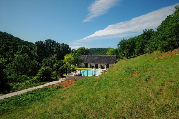 Le Manoir - Souillac - jardin et piscine