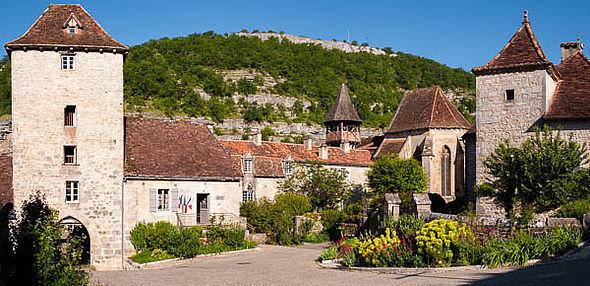 Le bourg d'Espagnac ste Eulalie