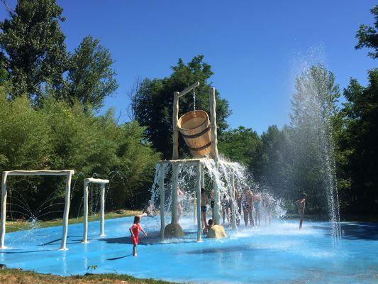 Parc aquatique La Saule - Betaille - tonneau splach