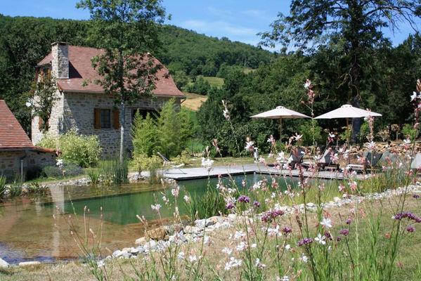 """Piscine naturelle commune  - Gîte """"l'Orée des Chênes"""" - © Hameau du Quercy -010"""