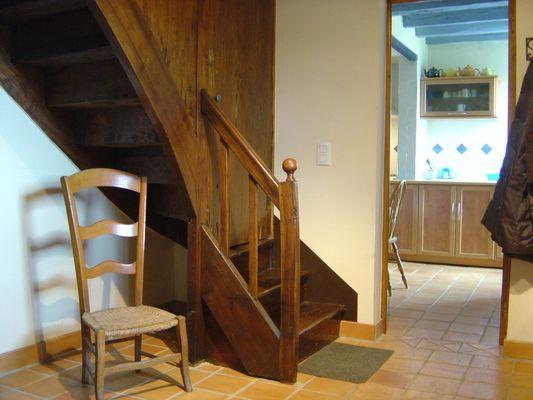 Porte de l'escalier - Les Bouyssières - Creysse ©_