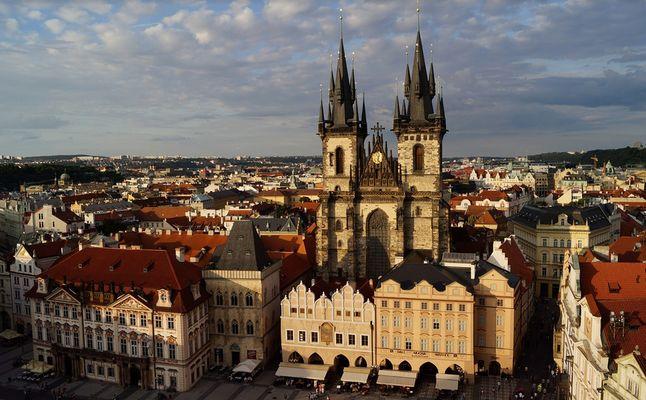 Prague, La Place Venceslas, République Tchèque