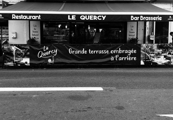 Restaurant Le Quercy-Souillac- façade N&B