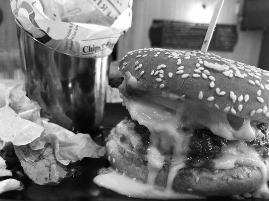 Restaurant Le Quercy-Souillac-burger_N&B
