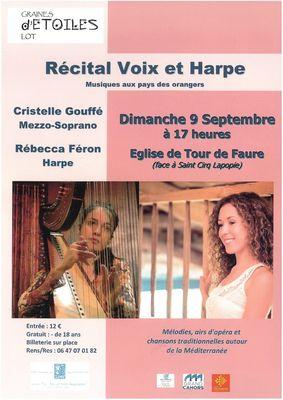 récital voix et harpe