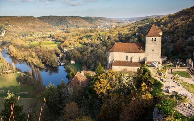 Saint-Cirq-Lapopie - Vue sur l'Eglise