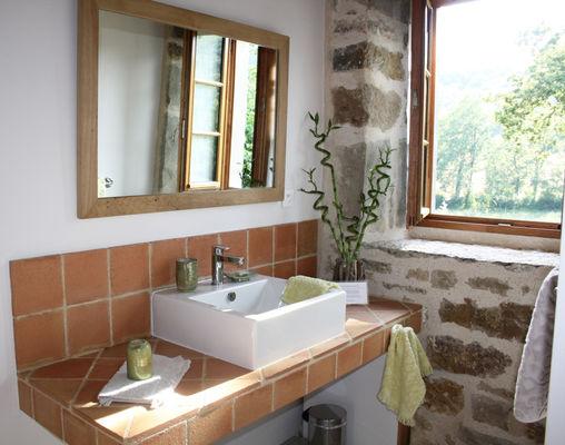 """Salle de bain - Gîte """"l'Orée des Chênes"""" - © Hameau du Quercy -007"""