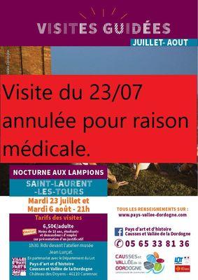 Visites nocturnes - Saint-Laurent -annulée