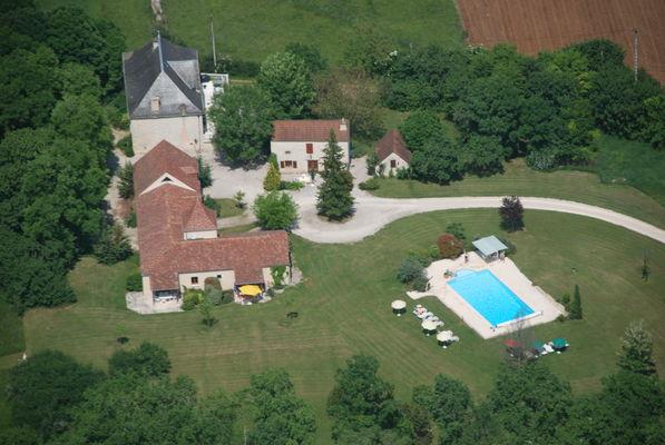 Aerial Domaine La Cabane