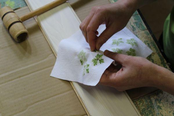 atelier Impression végétale sur textile 1