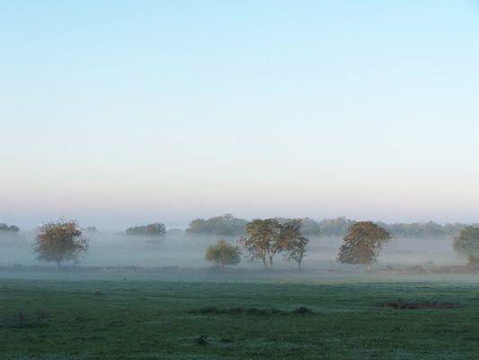 aube vue de la ferme vers le sud