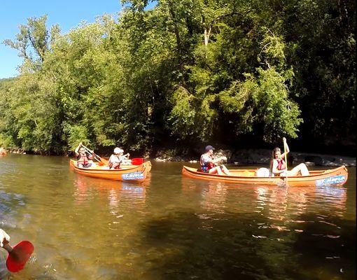 canoe sur le Célé dans le Lot - Copie