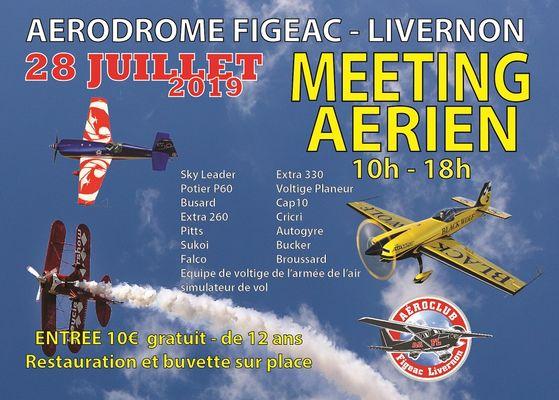 carte postale programme meeting aerien