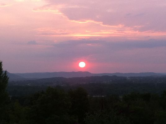 Coucher de soleil vu du gite