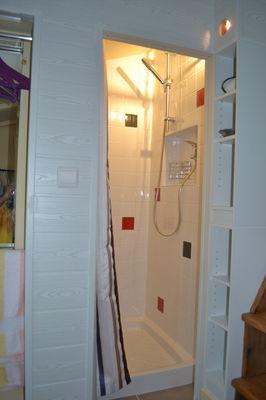 La douche de la cabane