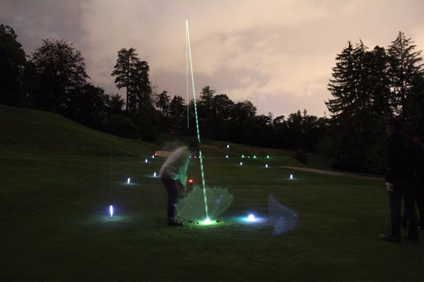 golf du Coiroux by night