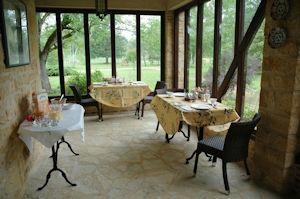 Terrace et petit déjeuner