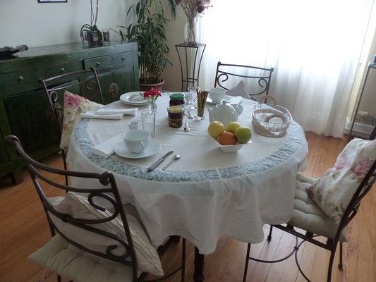 salle à manger petit dej