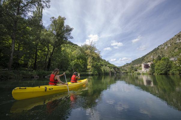 Canoe mejean gorges du tarn