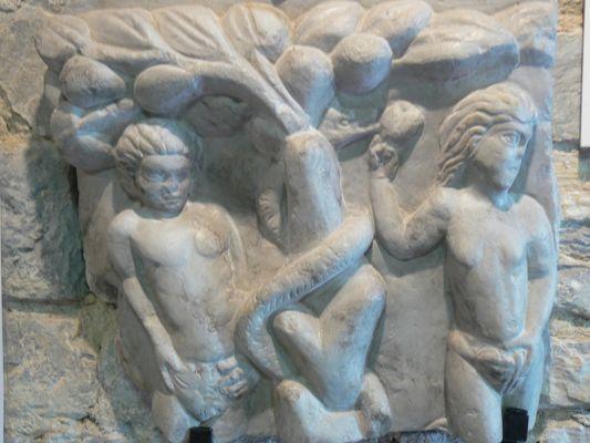 Maison-du-patrimoine-Fragment-sarcophage-Paleochretien-OLORON-SAINTE-MARIE-OTHB-DI