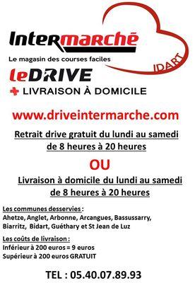Affiche drive livraison domicile