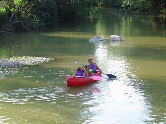 Balade en canoë sur le Luy