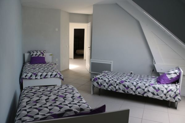 Chambre 3 couchages individuels